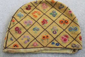 """VINTAGE 1930's-50's Hand Embroidered Wool Tea Cozy Cover 13"""" x 10"""" Charming"""