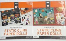 Haunted House & Dance Party Static Cling Paper Dolls Play sets Target NEW