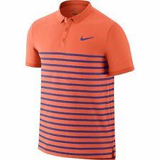 Nike Mens Advantage Dri-FIT Cool Tennis Polo Shirt Hot Lava/Persian Violet New M