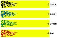 White Water Archery Tribal Flames 1 Fluorescent Neon Yellow Arrow Wraps 15 Pc