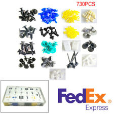 730Pcs 17 Kinds Mixed Auto Fastener Car Bumper Door Panel Plastic Clips Rivets