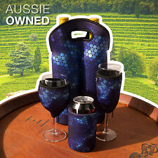 Neoprene Cooler Set - Wine Champagne Can & Bottle Cooler | Blue Christmas Gifts
