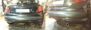 Peugeot 207 End Finalino Exhaust Chrome-Plated Mounting DIY IN 5 Minutes