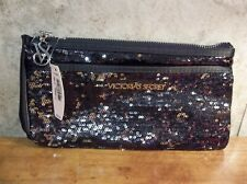 VICTORIAS SECRET BLACK SEQUIN CLUTCH/WALLET-NEW WITH TAGS