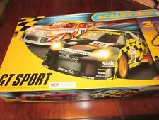 Two Scalextric Slot Car Sets #T1 Indy and #3 Gt Sport 1/32 Scale & 3 Slot Cars
