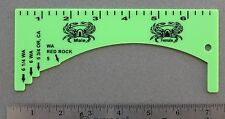 Lime Green Crab Gauge Measurer Oregon Washington California FREE SHIPPING