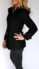 New Womens Kenneth Cole New York Wool Blend Coat Detachable Hood 18W
