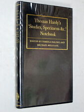 THOMAS HARDYS Studies Specimens &c Notebook - Dalziel & Millgate (1st Ed 1994)