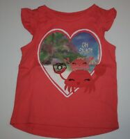 New Gymboree Coral Oh Snap Crab Top Tee Shirt NWT Size 2T 3T 4T 5T Island Girl