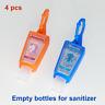 4 pack Botellas de 1oz (30ml) para backpack o llavero para gel o loción