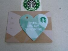 Thailand new Starbucks card 6116 You are my sunshine