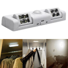 8 LED Auto PIR Motion Sensor Wardrobe Cupboard  Closet Light Night Light Lamp