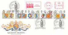 (04699) GB FDC Queens Beasts Royal Sovereign meter House of Stuart 24 Feb 1998