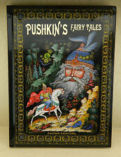 NEW RUSSIAN BOOK IN ENGLISH PUSHKIN FAIRYTALES PALEKH PAINTINGS(not lacquer box)
