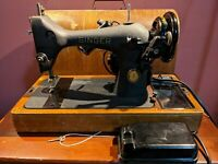 Beautiful Antique Singer 1950's Portable Electric Sewing Machine Works AK 715388