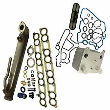 With EGR Upgraded Oil Cooler Cooler Kit For Ford Powerstroke 6.0L Diesel Turbo