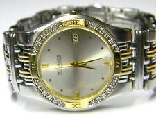 mens Longines Wittnauer Laureate 24 real diamonds Two Tone dress watch # 12E09