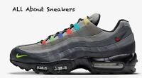 "Nike Air Max 95 EOI ""Charcoal/Black/Lemon Veno"" Trainers Limited Stock All Sizes"