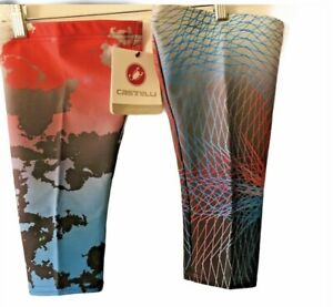 NEW Mens Size X-Large Castelli THERMOFLEX Warm Cycling Knee Warmers Colorful USA