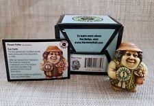 "Nib Pot Bellys ""Flower Potter"" The Gardner Marble Miniature Figurine"