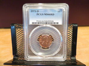 1971-D Lincoln Cent PCGS MS66RD skcl0104