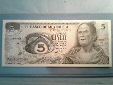 Mexico Banknote 5 Pesos 1969 P 62a *UNC* 5b30.1