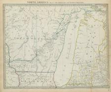 LAKE MICHIGAN Wisconsin Northwest Territory Indian tribes villages SDUK 1844 map