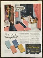 1942 Callaway Mills La Grange Georgia Towels & Rugs Husband in Bathtub
