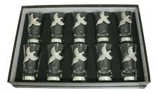 More details for pheasant 1-10 numbered shot glasses cups shooting gift boxed