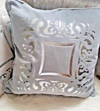 "Dekokissen""Sorrento"",Hellgrau mit Silber,Samt,60cmx60cm,elegant,luxuriös,Loft,"