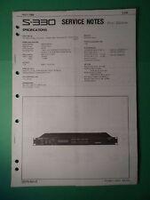 Original ROLAND Service Notes- S-330 Digital Sampler Rack Mount *Used*