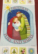 Christmas * Pure And Simple By Nancy Halvorsen Christmas Panel 100% Cotton