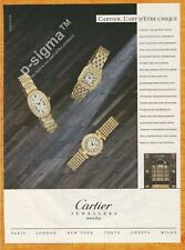 CARTIER jewels & watches 1989 Vintage Print Ad