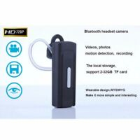 US Bluetooth Headset Spy Hidden Video Camera Audio Recorder Camcorder Cam DVR