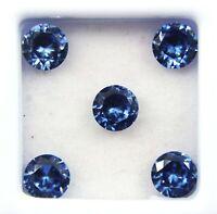 5 Ct  Natural Blue Tanzanite Round Cut Gems Origin Tanzania GGL Certified 5 pcs