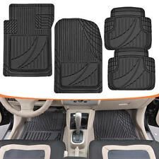 Motor Trend All-Trim Heavy Duty Odorless Rubber Car Floor Mats Black Liners