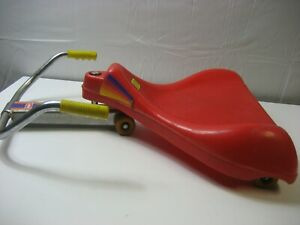 Kransco Wham-O Roller Racer Red Ride On Top Scooter Vintage 1987 Made USA