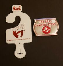 "The Real Ghostbusters 1980's 2"" Foil Label and Child-size Belt Hanger by Lee"