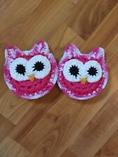 Owl Kitchen Scrubbies - Set Of 2 - Pink