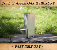 Cold Smoke Generator for food smoking + 3X3L APPLE OAK HICKORY Wood Chips FREE