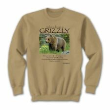 Grizzly Bear Sweatshirt Size XL Advice Nature Sweatshirt NWT Tan