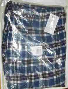 Croft & Barrow Classic Blue Plaid Flannel Sleep Lounge Pants NEW Size L