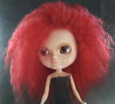Mohair Bright Red Doll wig