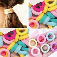 100pcs/lot Kids Small Hair Rope Scrunchy Elastic Girls Band Hair Ties J9R3