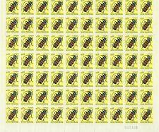 Portuguese Guinea Scott 281, 5c flat-faced longhorn beetle, block of 70, VF-NH