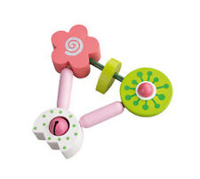 New HABA Nana Wooden Baby Girls clutching toy teether rattle, Germany