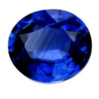 Certified Natural Ceylon Cornflower Blue Sapphire VVS Sri Lanka 4.3x3.7 mm Oval