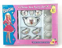 Vintage 1994 Barbie Porcelain Tea Party Set 17 Pieces