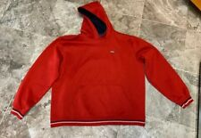 Mens Tommy Hilfiger Tommy Jeans Hoodie Spell Out Jacket Large Red