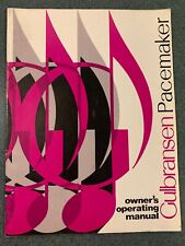 Original Gulbransen Pacemaker Organ Owner's Operating Manual